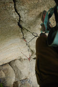 Rock Climbing Photo: The only way I could get up was hanging on gear. S...