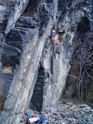 Rock Climbing Photo: Nearing the crux on Center Stage and All Alone