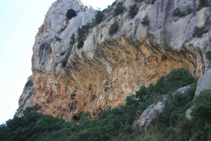 Rock Climbing Photo: Some of the hard lines...