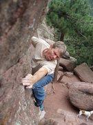 Rock Climbing Photo: Goofing way left.