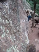 Rock Climbing Photo: Tree Slab