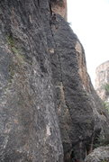Rock Climbing Photo: Top of the 5.9 section of Ice Station Zebra.  Swee...