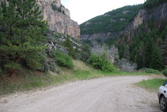 Rock Climbing Photo: The parking area, if you look close enough off the...