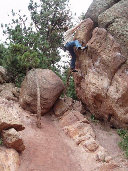 Rock Climbing Photo: Traversing forever.