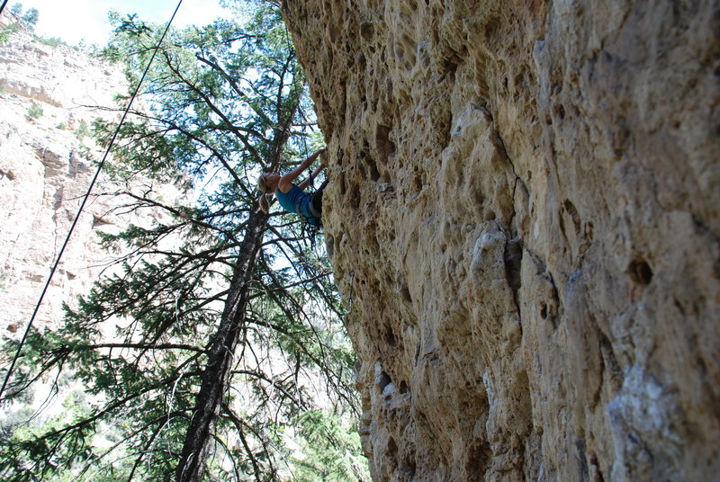 Rock Climbing Photo: Yes, the route is juggy and overhanging.