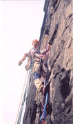 Rock Climbing Photo: John just off the belay on P2 of Spectacular Spect...