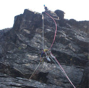 Rock Climbing Photo: Some rope antics while putting up Spectacular Spec...