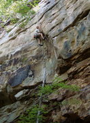 Rock Climbing Photo: Sending Trojans on a not-so-cool June day- so good...