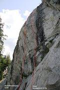 Rock Climbing Photo: Spring Wall Left Topo