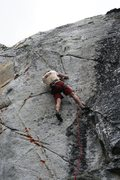 Rock Climbing Photo: Setting up for the big move on Anger Management, 5...