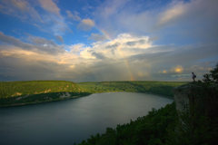 Rock Climbing Photo: Devils Lake just after the storm. July '09.