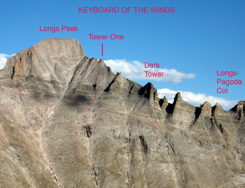 Rock Climbing Photo: View of the Keyboard of The Winds from Arrowhead, ...