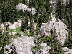 Rock Climbing Photo: Large, kind flowing chunks of granite, Emerald Lak...