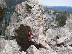 Rock Climbing Photo: Looking down at Lake Hiyaha, Upper Chaos Canyon, R...
