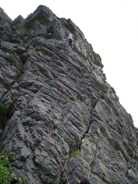 Rock Climbing Photo: Lost Bolt route; easy, fun climbing with lots of j...