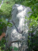 Rock Climbing Photo: Boulder at the top of White Wall with a good landi...