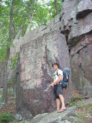 Rock Climbing Photo: Nice boulder with a good landing. Behind it is an ...