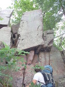 Rock Climbing Photo: This a free standing tower that starts 15ft below ...