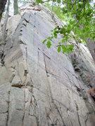 "Rock Climbing Photo: The face is ""The Blackboard"" 5.10b."