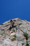 Rock Climbing Photo: Entering the rat's nest of P3... it looked easy en...