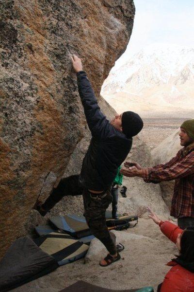 Rock Climbing Photo: coming around the arete