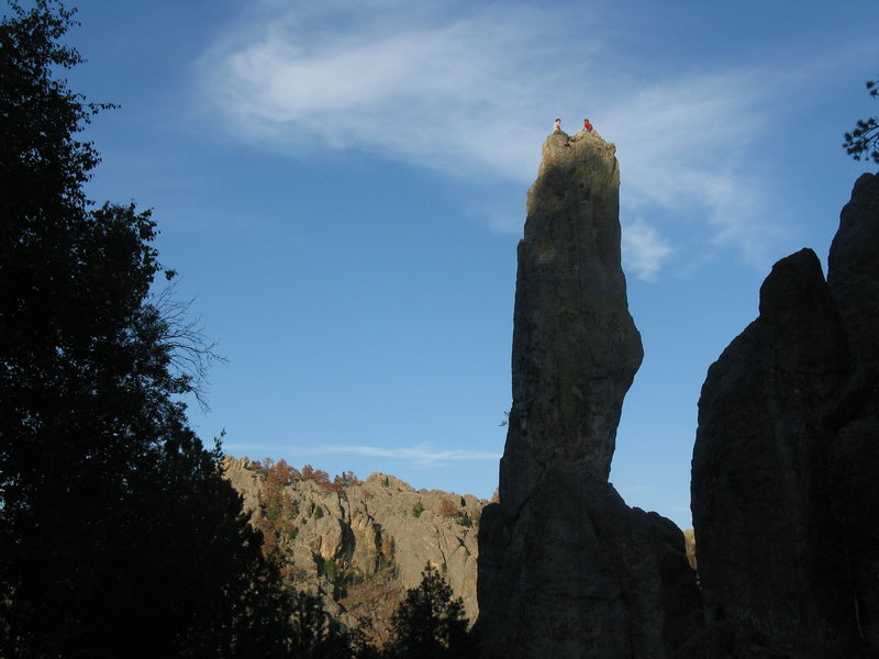 Rock Climbing Photo: Classic summit with an unreal view of the spires.