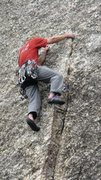 Rock Climbing Photo: The top of the crack.