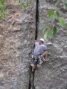 Rock Climbing Photo: Nice wide crack.