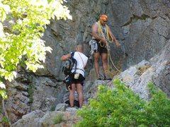 Rock Climbing Photo: Storm Mountain Picnic Area (Layback Crack)