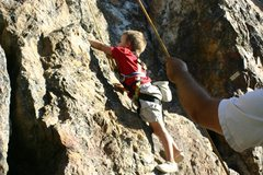 Rock Climbing Photo: The Red Rock (Facial Fracture)