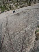 Rock Climbing Photo: Lin Murphey on Knossos, P1.