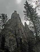 Rock Climbing Photo: Looking up at Spire One from the backside.  This i...
