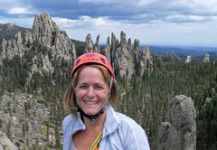 "Rock Climbing Photo: Brenda on the summit of Spire One with the ""P..."