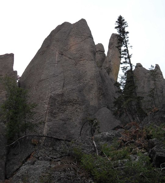 Rock Climbing Photo: Moby Dick taken from the road.  As you drive from ...