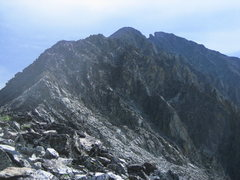 Rock Climbing Photo: Crazy Peak - The rugged West Ridge route is mainly...