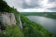 Rock Climbing Photo: Ted Kryzer on WWH in the approaching storm. 07/25/...