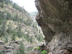 Rock Climbing Photo: Daniel finishing up the Great Escape.