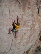 Rock Climbing Photo: Dan on Hurricane