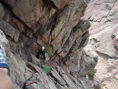 Rock Climbing Photo: About halfway up the second pitch of 'Breezy'. Ver...