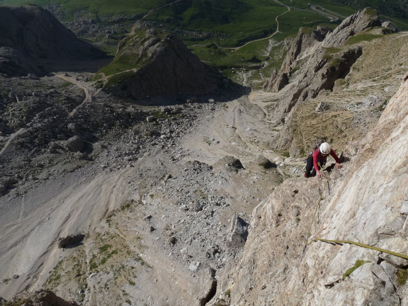 On the traversing fifth pitch.