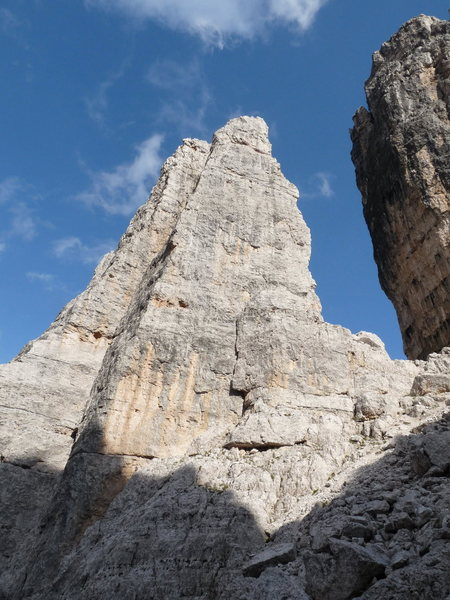 Rock Climbing Photo: The NW corner on Torre Barancio is obvious in this...