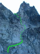 Rock Climbing Photo: The easiest way to the notch behind Long John Towe...