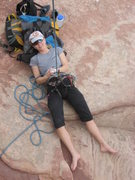 Rock Climbing Photo: Not how I normally belay - I promise!