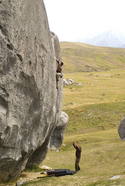 Rock Climbing Photo: Castle Hill, NZ