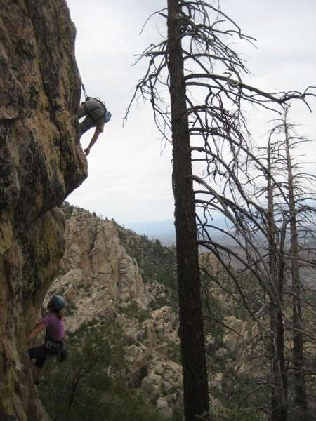 Rock Climbing Photo: Dalton helping out Lindsey
