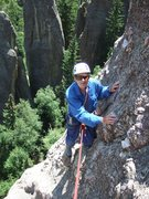 Rock Climbing Photo: Dave Meyer, closing in on his 81st birthday, neari...