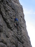Rock Climbing Photo: Chris on P1.