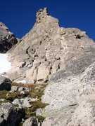 Rock Climbing Photo: Looking up at the route.  You can simul-climb the ...