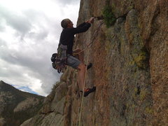 Rock Climbing Photo: Bill settling into the onsight!!
