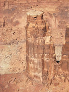 Rock Climbing Photo: The Warlock as seen from the rim of Hell Roaring C...